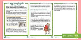 KS2 Gypsy, Roma and Traveller History Month Differentiated Fact File - KS1 GRTHM, Gypsy, Roma, Traveller History Month, Gypsies, Travellers, reading, differentiated readin