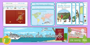 Pack de juego de rol: Los agentes de viajes - Vacación, vacaciones, viaje, viajes, mundo, el mundo, turismo, turista, turístico, turística, rol