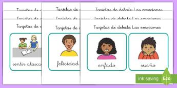 Tarjetas de clasificar: Las emociones - auto-estima, sentimientos, emociones, todo sobre mi, yo mismo,tarjetas, discusión, NEE, vocabulario