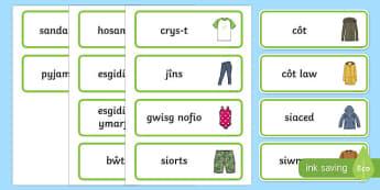 Labeli Dillad Arwyddion a Labeli-Welsh