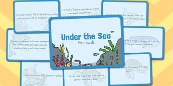 Amazing Under the Sea Display Fact Cards - displays, facts