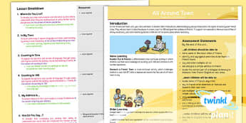 French: All Around Town Year 4 Unit Overview