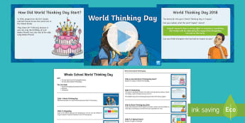 Whole School World Thinking Day Assembly Pack - Girl guides, girl scouts, baden power, international, teamwork, brownies, women, rainbows