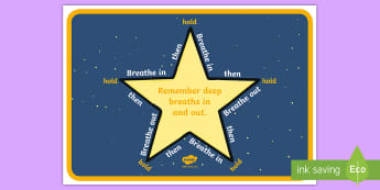 Soothing Star A4 Display Poster - Breathing Techniques, Calming techniques, Anger management, Relax Kids, Behaviour Management,Scottis