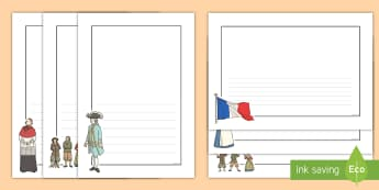 Bastille Day Page Borders - bastille day, page borders, borders