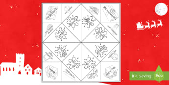 Christmas Spanish Sentence Building Fortune Teller Game Spanish - Christmas, presents, gifts, adjective, agreement, feminine, masculine