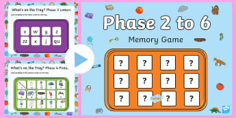 What's on the Tray? Phase 2 - 6 Letters and Sounds Memory PowerPoint Game - Letters and Sounds, letters and sounds resources, free letters and sounds resources, phonics, phonic