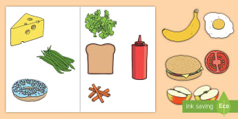 Home Living Role Play Food Cut-Outs - home living, role-play, food, cut-outs, pretend, display, meal,