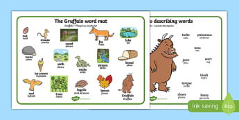The Gruffalo Word Mat (Images) Romanian Translation-Romanian-translation