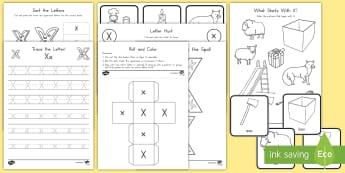 Letter X Activity Pack - Alphabet Packets, Letter X, Letter Formation, Letter Identification, EYFS, KS1, PreK, Kindergarten,