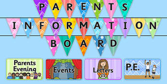 Parent Notice Board Pack - notice board, notice board for parents, board, information board, parent board, information, parent information, parent section