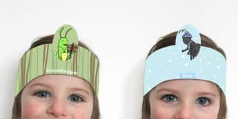 The Ant and the Grasshopper Role Play Headband - Grasshopper, Ant