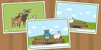 Cele trei capre posace - Poveste - cele trei capre posace, poveste, planșe, imagini, cuvinte, materiale, materiale didactice, română, romana, material, material didactic