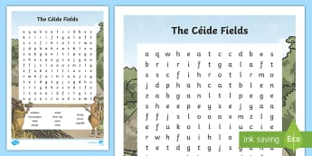 The Céide Fields Word Search - ROI - The World Around Us - The Ceide Fields stone age, neolithic, farmers, stone, mayo, history, si