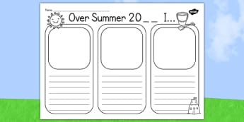 Writing frames literacy primary resources summer summer holiday writing template maxwellsz
