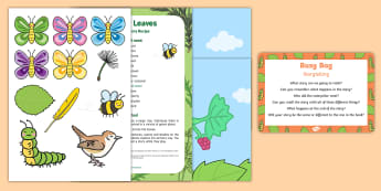 Storytelling Busy Bag Prompt Card and Resource Pack - The Crunching Munching Caterpillar, Sheridan Cain, life cycle of a butterfly, caterpillars, storytel