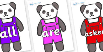 Tricky Words on Panda Bears - Tricky words, DfES Letters and Sounds, Letters and sounds, display, words