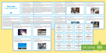 Guided Reading Skills Task Cards Main Idea - reading, skills