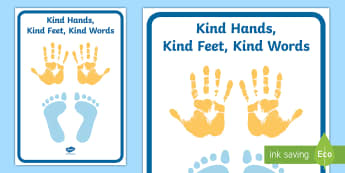 Kind Hands, Kind Feet, Kind Words Display Banner - kind hands, kind feet, kind words, display banner, display, banner