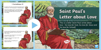 Saint Paul's Letter about Love PowerPoint - St Paul, Conversion Story, Love Poem, Bible, Christianity, Catholic, Religion,Irish