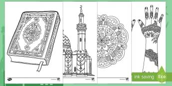 أوراق العيد للتلوين الدقيق المساعدعلى التركيز  - إسلام، عيد الفطر، عيد الأضحى، العيد، عيد، احتفالات، من