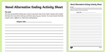 Novel Alternative Ending Activity Sheet-Irish, worksheet