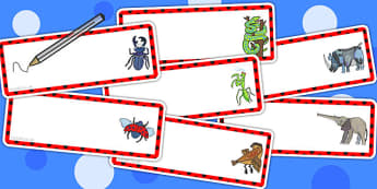 Editable Drawer Peg Name Labels to Support Teaching on The Bad Tempered Ladybird - signs