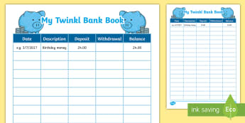 Financial Literacy Bank Book Number Activity Sheet - bank book, banking, number, maths, new zealand, financial literacy