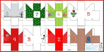 Advent Calendar Boxes - advent, advent calendar, calendar boxes, christmas, christmas themed, christmas calendar, christmas advent, themed calendar