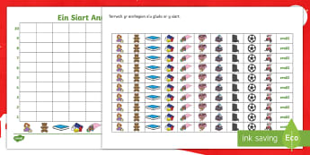 Christmas Pictograph Activity Welsh - christmas, welsh, cyfri, counting, graffio, graphing, pictogram, siart, chart, cymharu, compare, trin data, collecting data,Welsh