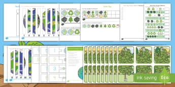 Earth Day Early Childhood  Resource Pack - Earth Day, USA, America, recycle, environment, planet, earth,