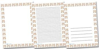 Feet Portrait Page Borders- Portrait Page Borders - Page border, border, writing template, writing aid, writing frame, a4 border, template, templates, landscape