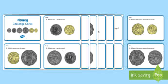Year 1 Currency Maths Challenge Cards - Australian currency , Australian money, Australian coins, money, coins, currency, dollar,Australia