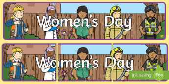 Women's Day Display Banner - women's day, 8th March, womens day, women, girls banner