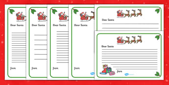 Christmas activity sheets writing frames primary letter to santa writing template spiritdancerdesigns Images