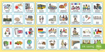 Visual Timetable Timetable English/Italian - school, class, names, subjects, italiano, italian, EAL, time