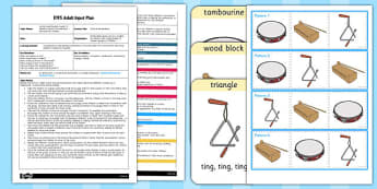 Musical Movements EYFS Adult Input Plan and Resource Pack - music
