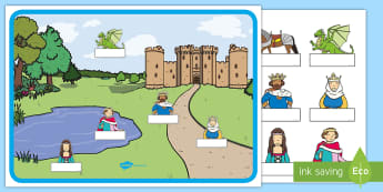 Castle-Themed Editable Self-Registration Display Pack - Castle, Knights, Dragons, King, Queen, Princess, Prince, Register, Attendance.