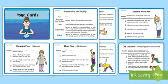 KS1 Yoga Information Cards