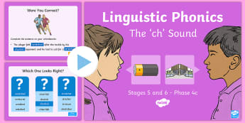 Northern Ireland Linguistic Phonics Stage 5 and 6, Phase 4c, 'ch' Sound PowerPoint - NI, Irish, Sound Search, Word Sort, Investigation, Phoneme, Grapheme, Letter