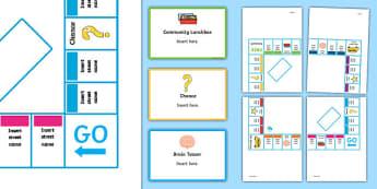 Editable Homeworkopoly Board Game
