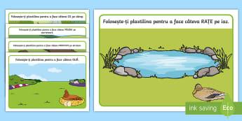 La fermă Planșete pentru modelajul cu plastilina - la ferma, modelaj, animale domestice, comunicare, activitati de comunicare, vocabular ,Romanian