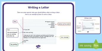 Writing a Letter Display Poster - letter, writing, display poster, creative writing, layout, format,Irish