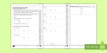 11+ Verbal Reasoning Practice Paper: Complete the Calculation 2 Assessment