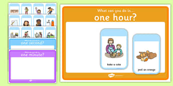 What Can You Do in a Second, Minute, Hour Time Period Sorting Cards Game - second, minute, hour, time period, sorting cards game, game, sorting, cards, sort