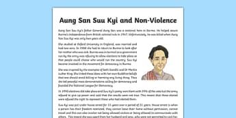 Aung San Suu Kyi and Non-Violence Information Sheet