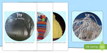 * NEW * Winter Display Circle Photo Cut-Outs - English / Spanish  - Winter Display Circle Photo Cut Outs - winter, display, circle, photo, cut outs,winterdisplay,wnter,