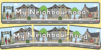 My Neighbourhood Display Banner - my neighbourhood, display, banner