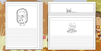 Don't Hog the Hedge! Writing Frames Pack - Twinkl Originals, Fiction, Autumn, Hiberate, Woodland, Animals, Independent Writing
