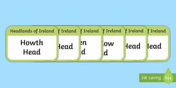 Headlands of Ireland Flashcards